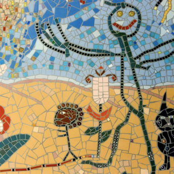 mosaic stick man art