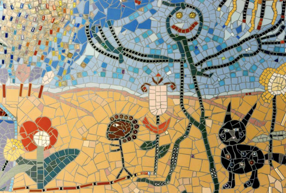 mosaic stick man art