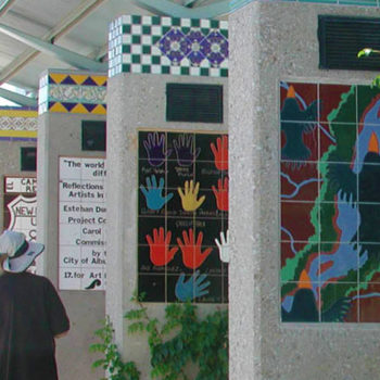 photo of tile mosaic art show