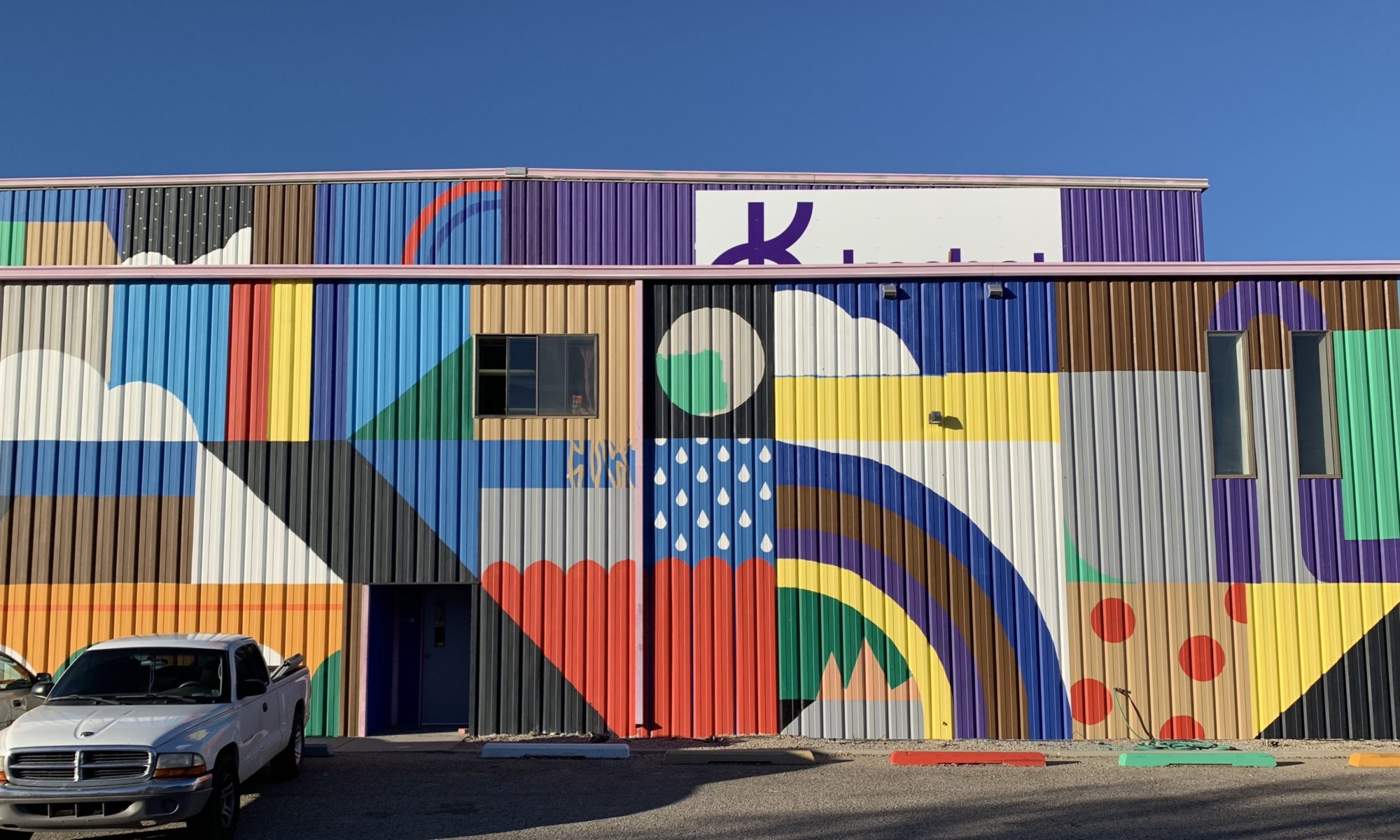 mural of elementary style blocks