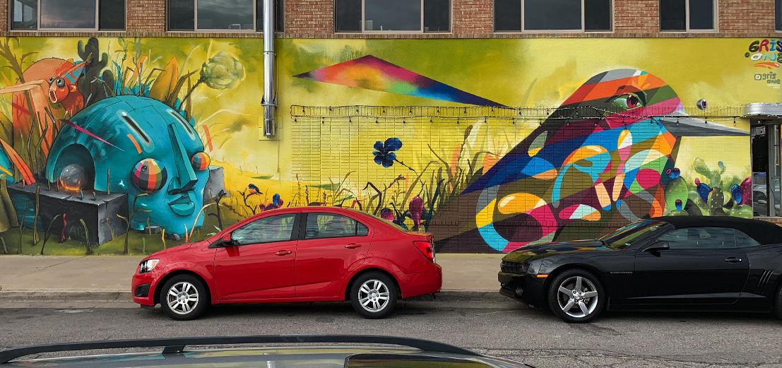 photo of bright mural design