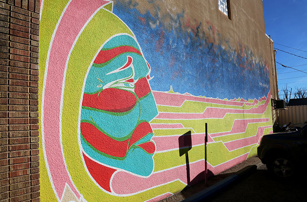 mural of stripped profile