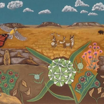 Plains of New Mexico and friends mural